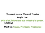 the great mentor marshall thurber taught that