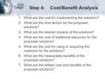 step 4 cost benefit analysis ul li what