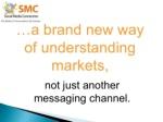 a brand new way of understanding markets not just