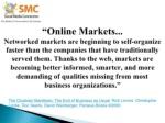 online markets networked markets are beginning