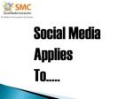 social media applies to