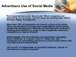 advertisers use of social media