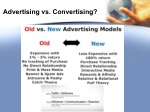 advertising vs convertising