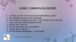 some common blunders 1