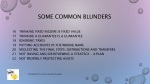some common blunders 2