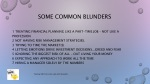 some common blunders