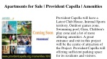 a partments for sale provident capella amenities