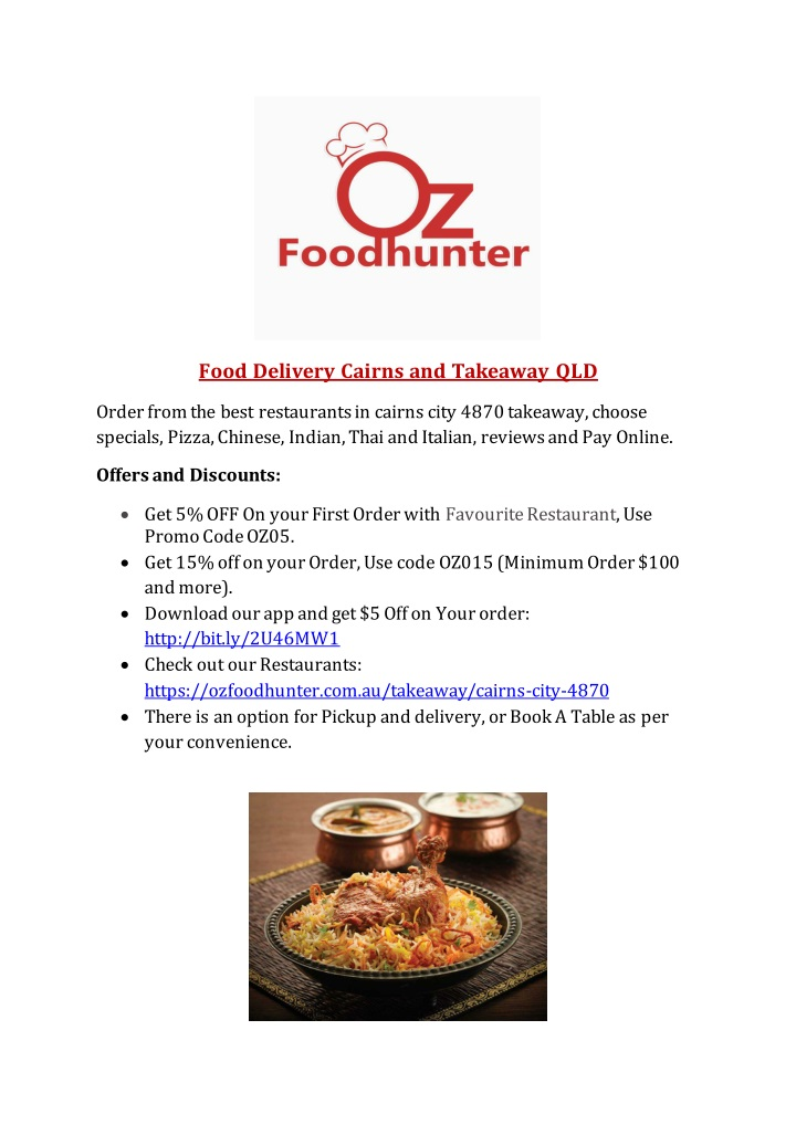 food delivery cairns and takeaway qld n.