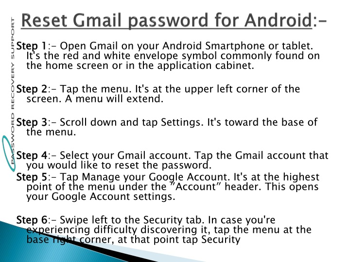 Embed | Reset Gmail Forgot Password Android, Computer