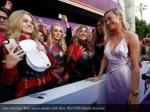 cast member brie larson poses with fans reuters
