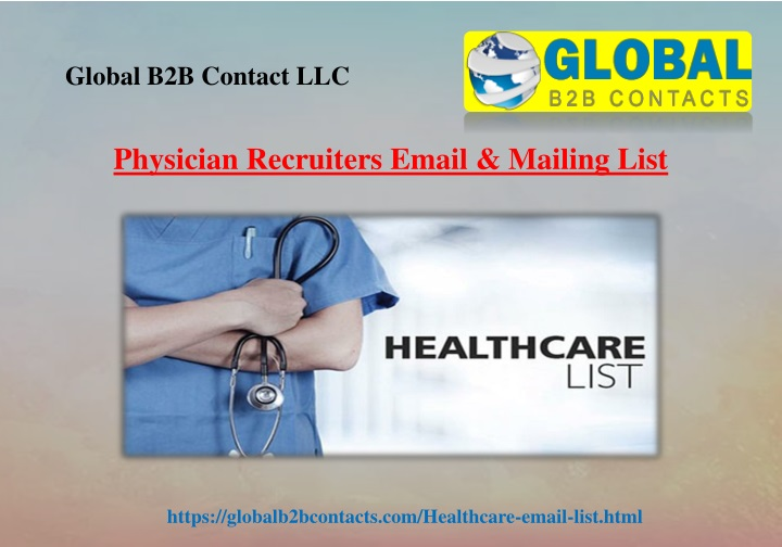 physician recruiters email mailing list n.