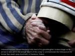 holocaust survivor edward mosberg holds hand
