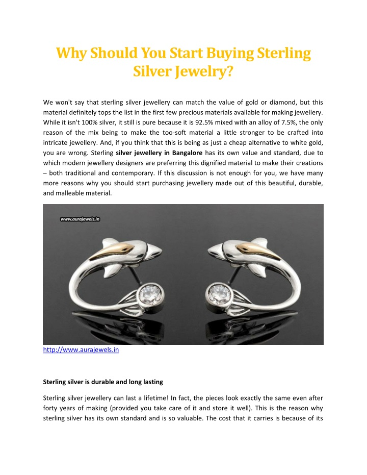 why should you start buying sterling silver n.
