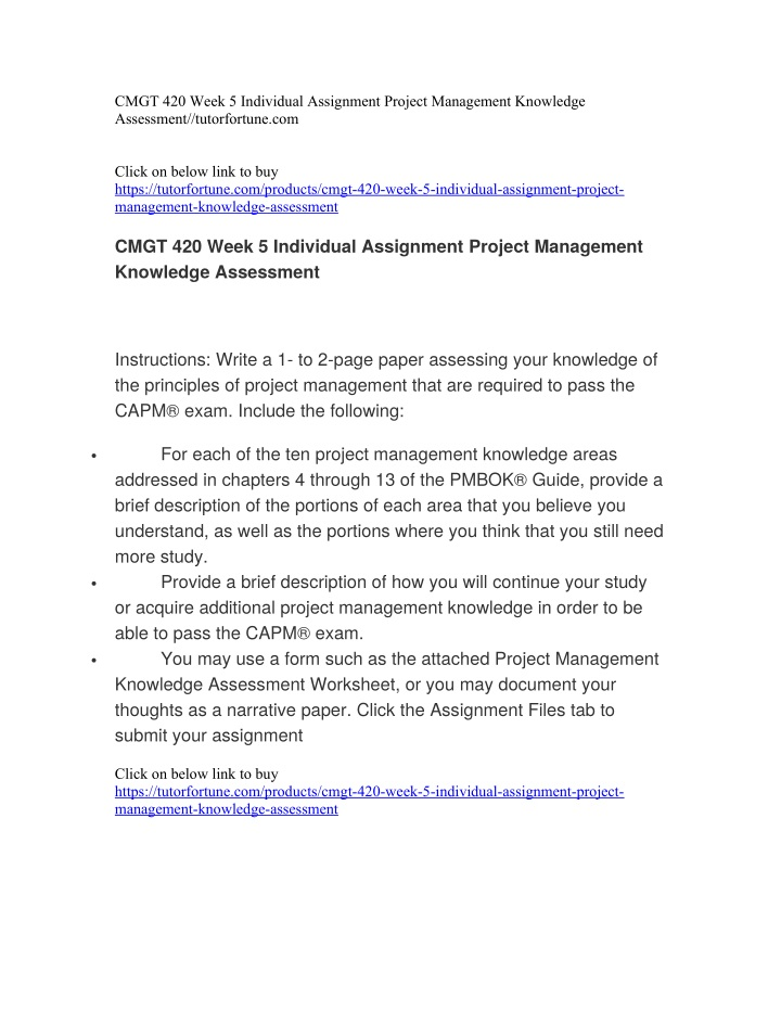 cmgt 420 week 5 individual assignment project n.