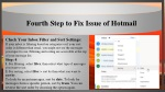 fourth step to fix issue of hotmail