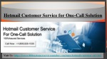 hotmail customer service for one call solution