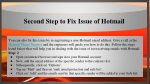 second step to fix issue of hotmail