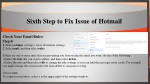 sixth step to fix issue of hotmail