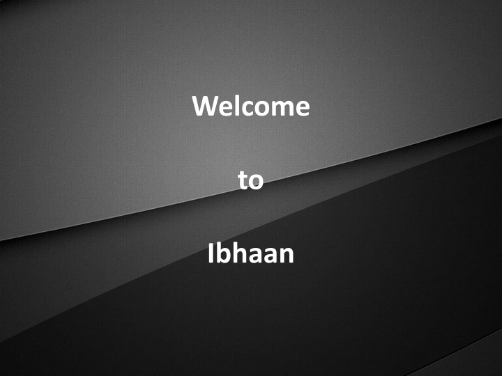 welcome to ibhaan n.