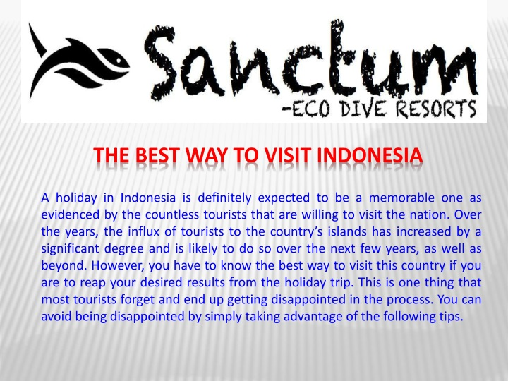 the best way to visit indonesia n.