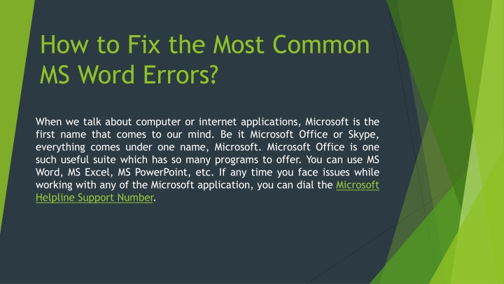 how to fix the most common ms word errors n.