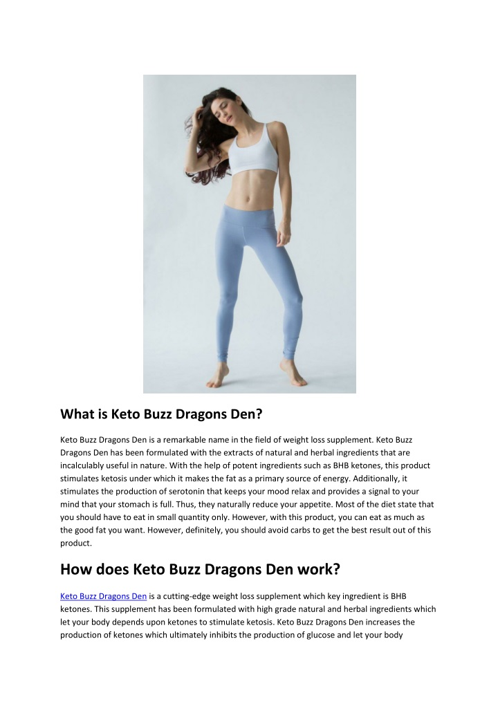 what is keto buzz dragons den n.