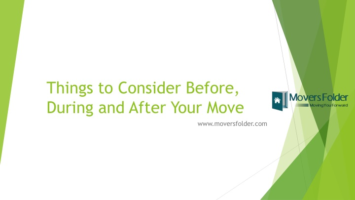 things to consider before during and after your move n.