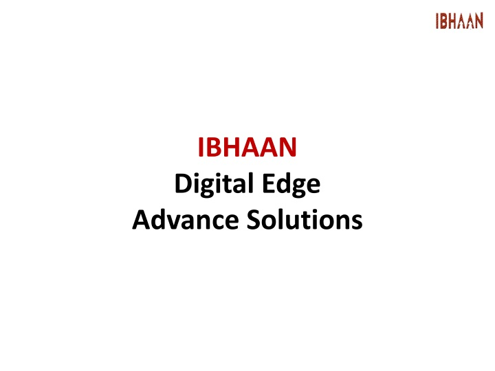 ibhaan digital edge advance solutions n.