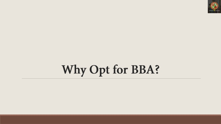 why opt for bba n.