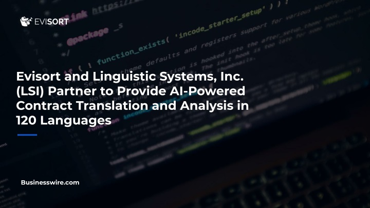 evisort and linguistic systems inc lsi partner n.