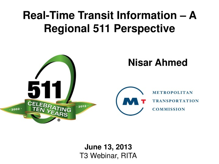 real time transit information a regional n.