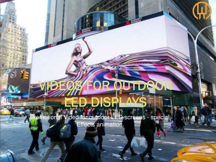 promotional video for outdoor led screens special effects animation n.