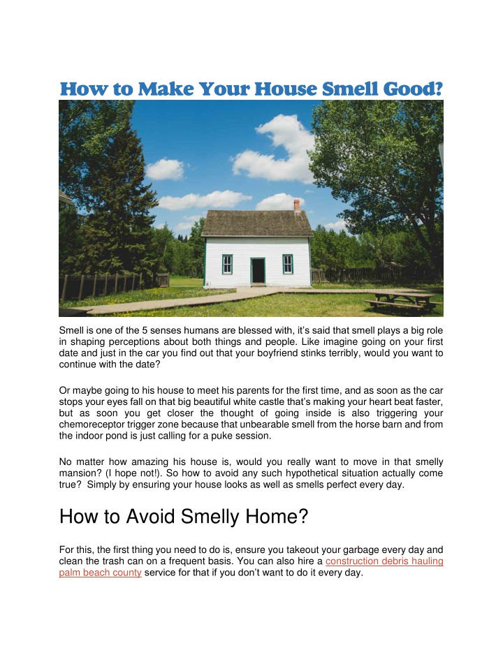 how to make your house smell good n.