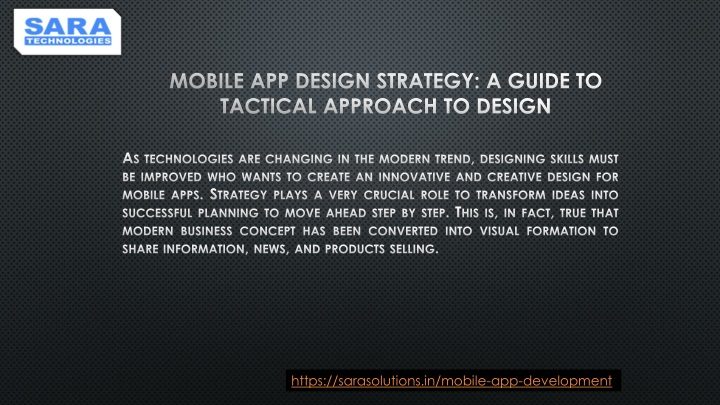mobile app design strategy a guide to tactical approach to design n.