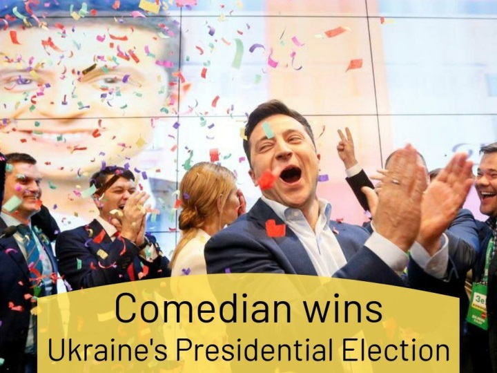 comedian wins ukraine s presidential election n.