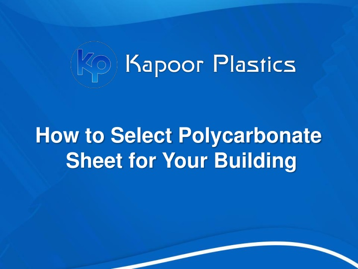 how to s elect p olycarbonate s heet n.