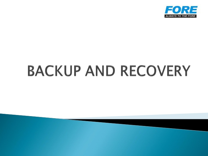 backup and recovery n.