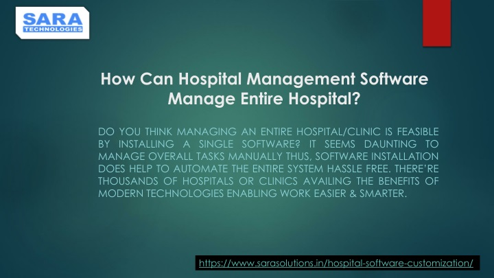 how can hospital management software manage entire hospital n.