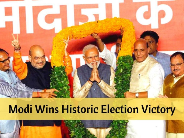 modi wins historic election victory n.