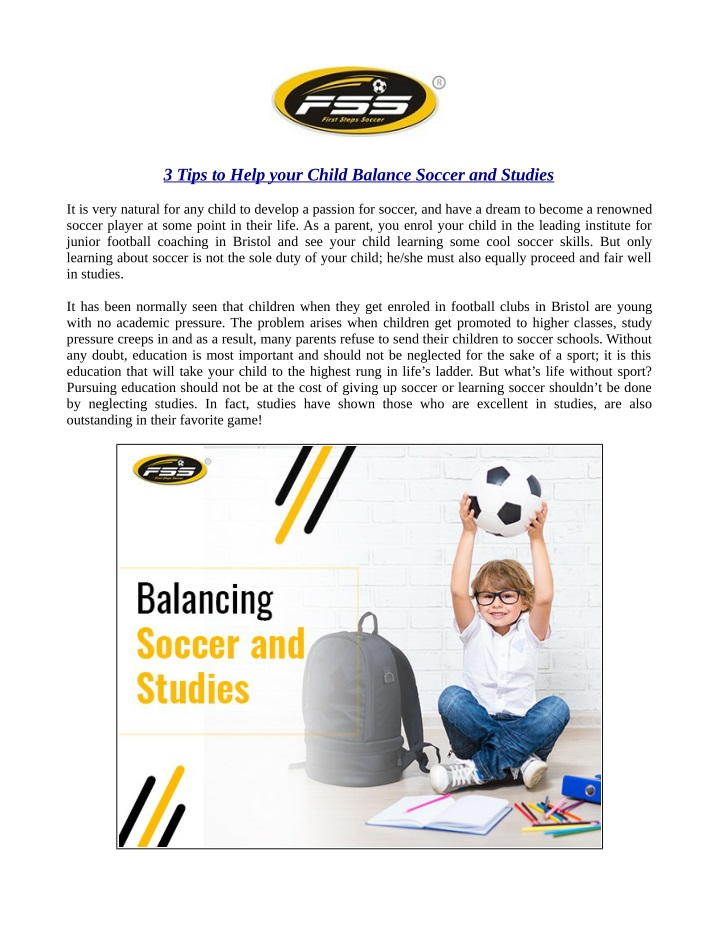 3 tips to help your child balance soccer n.