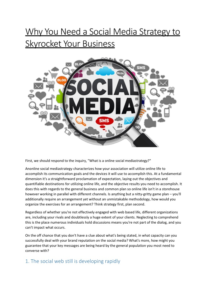 why you need a social media strategy to skyrocket n.