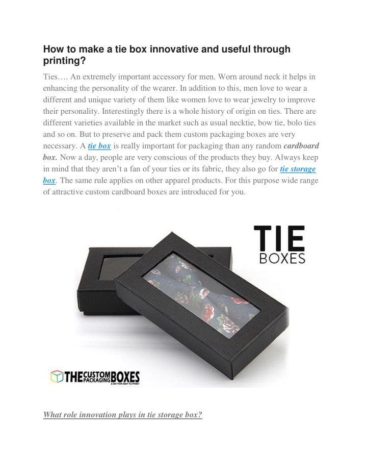 how to make a tie box innovative and useful n.