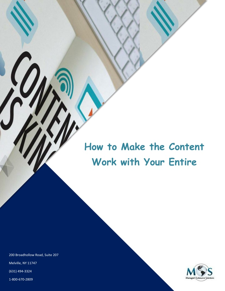 how to make the content work with your entire n.