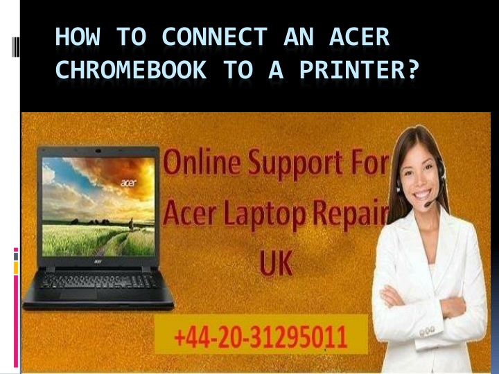 how to connect an acer chromebook to a printer n.