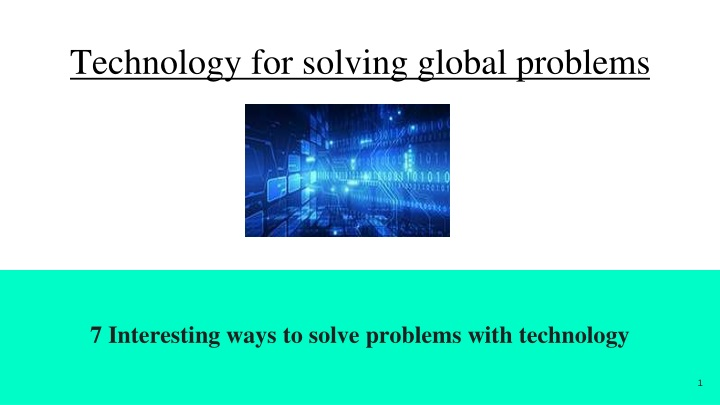 technology for solving global problems n.