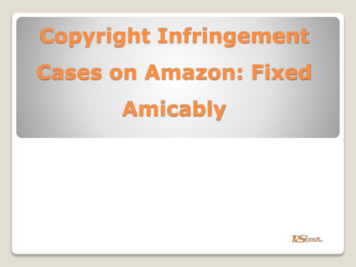 copyright infringement cases on amazon fixed amicably n.