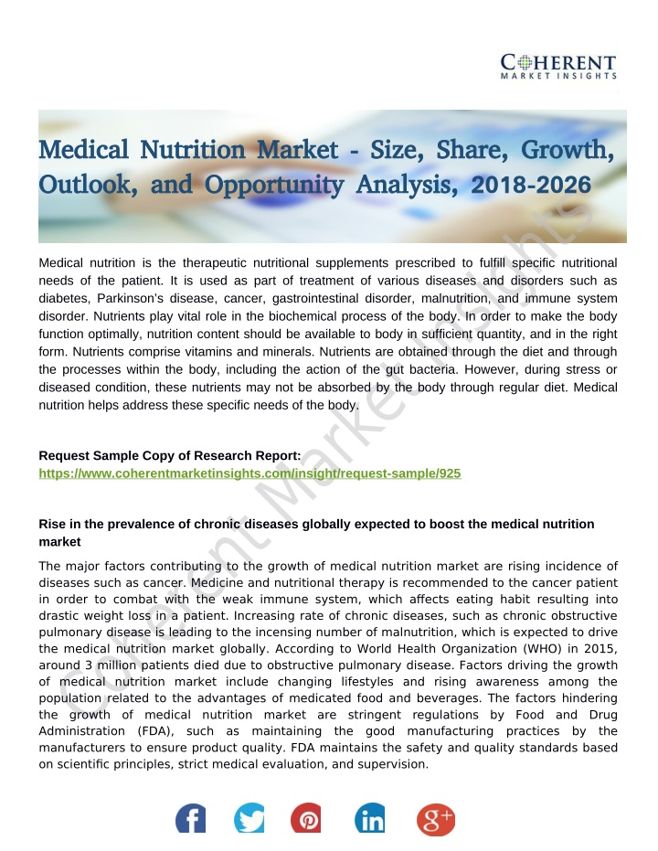 medical nutrition market size share growth n.