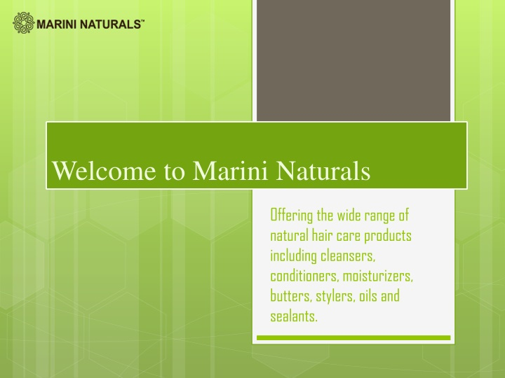 welcome to marini naturals n.