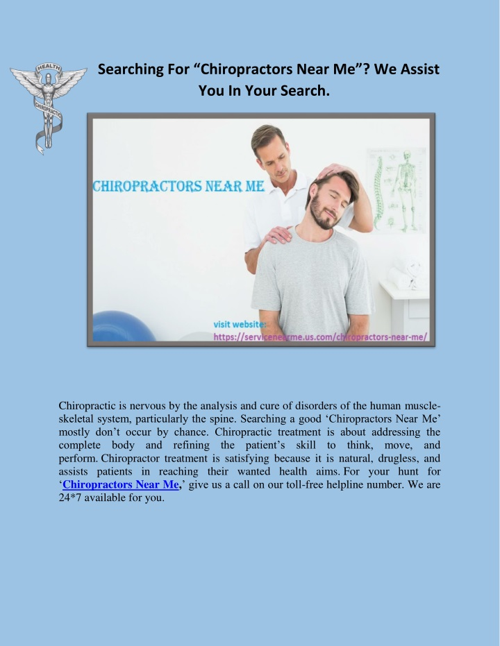 searching for chiropractors near me we assist n.