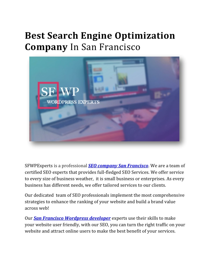 best search engine optimization company n.